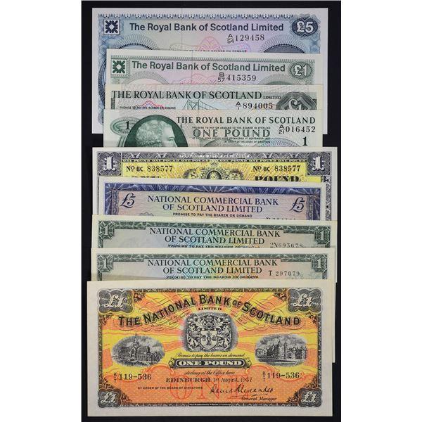 Commercial Bank, National Bank, National Commercial Bank, North of Scotland Bank, The Royal Bank and