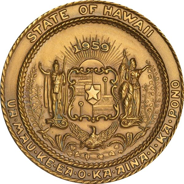 United States. Hawaii. Amazing 1959 Statehood Medals Set. All Gem, as struck.