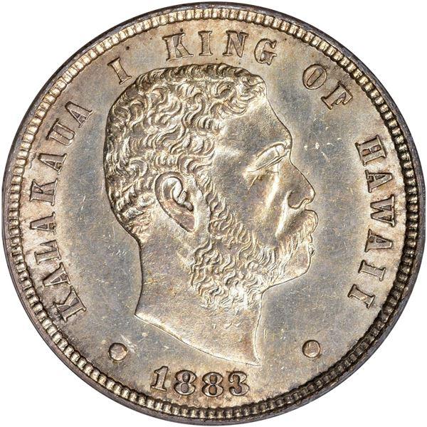 Hawaii. Kingdom. Kalakaua I. 1883 10¢. KM-3. MS-61 PCGS.