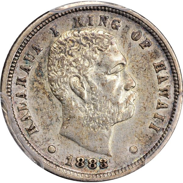 Kalakaua I. 1883 10¢. KM-3. Small Group of Varied Grades.