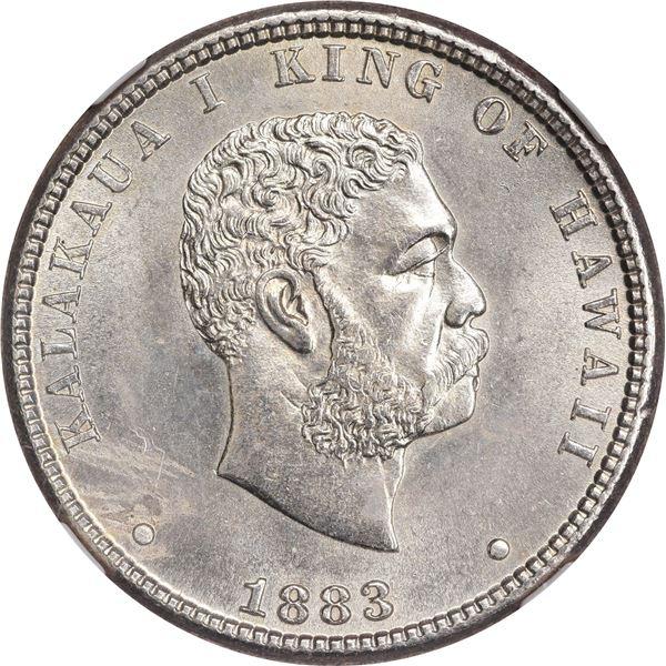 Hawaii. Kingdom. Kalakaua I. 1883 25¢. KM-5. MS-62 NGC.