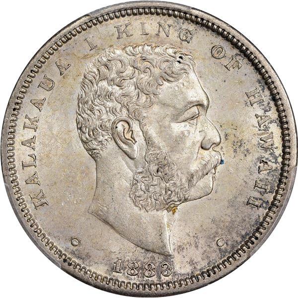 Hawaii. Kingdom. Kalakaua I. 1883 50¢. KM-6. MS-62 PCGS.
