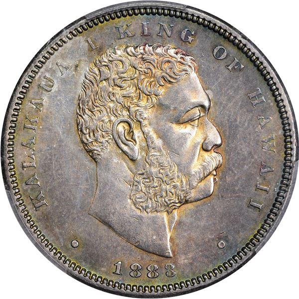 Hawaii. Kingdom. Kalakaua I. 1883 50¢. KM-6. AU-58 PCGS.