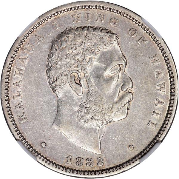 Hawaii. Kingdom. Kalakaua I. 1883 50¢. KM-6. AU-53 NGC.