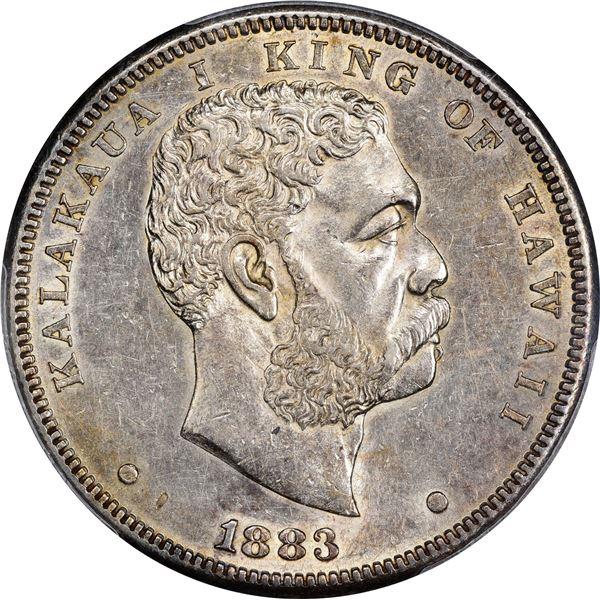 Hawaii. Kingdom. Kalakaua I. 1883 $1. KM-7. AU-55 PCGS.