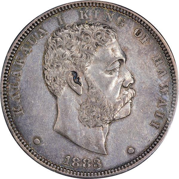 Hawaii. Kingdom. Kalakaua I. 1883 $1. KM-7. AU-53 ICG.