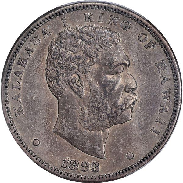 Hawaii. Kingdom. Kalakaua I. 1883 $1. KM-7. EF-45 PCGS.v