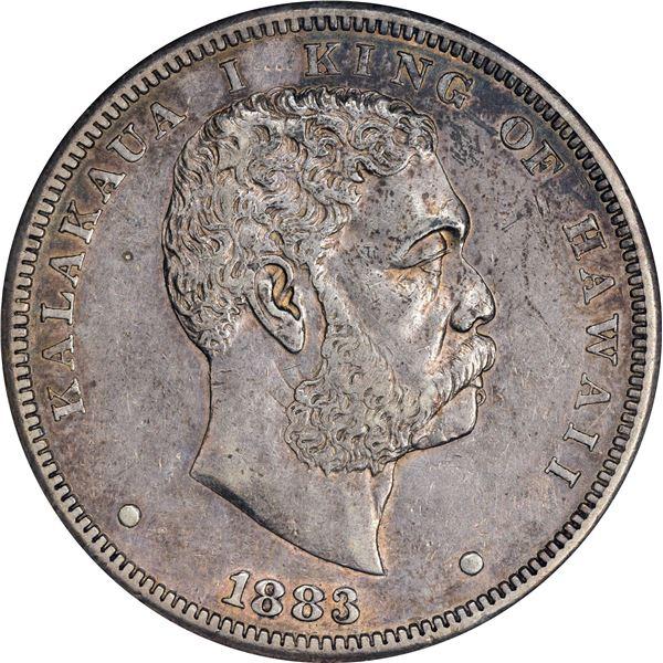 Hawaii. Kingdom. Kalakaua I. 1883 $1. KM-7. EF-45 ANACS.