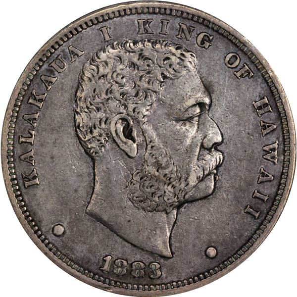 Hawaii. Kingdom. Kalakaua I. 1883 $1. KM-7. EF-40 NGC.
