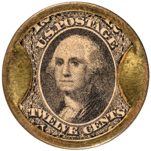 HB-164, EP-152, S-117, Reed KG12. Twelve Cents. KIRKPATRICK & GAULT, N.Y.C., Cleaned. Extremely Fine