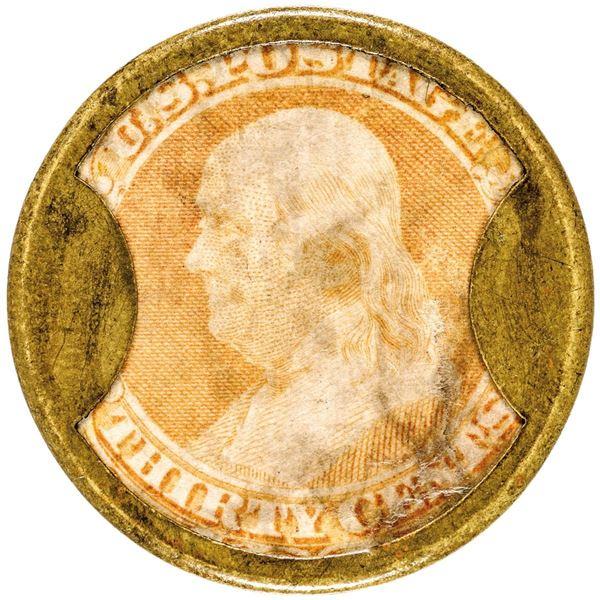 HB-166, EP-181, S-119, Reed KG30, 30¢ Stamp, KIRKPATRICK & GAULT, Plain Frame, Very Fine.