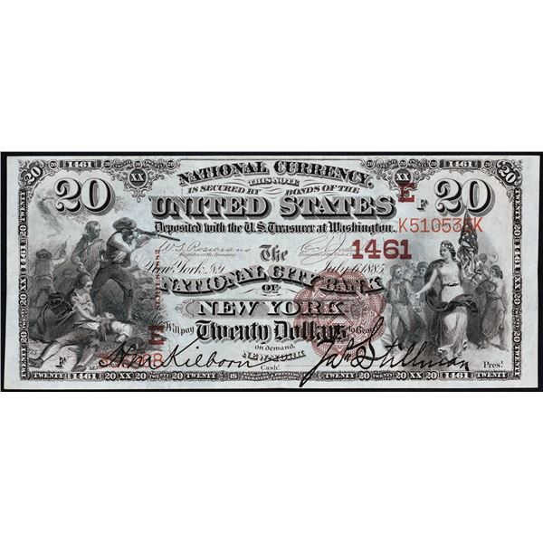 New York, New York  -  $20  1882  Brown Back  Fr. 469  The National City Bank of New York  Ch. # 146