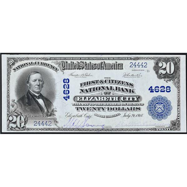 Elizabeth City, North Carolina  -  $20  1902 Plain Back  Fr. 658  The First & Citizens National Bank