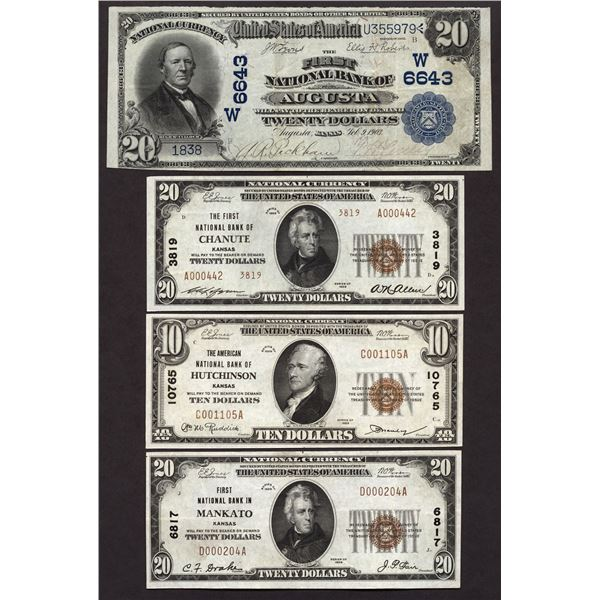 Lot of (4).  National Bank Notes