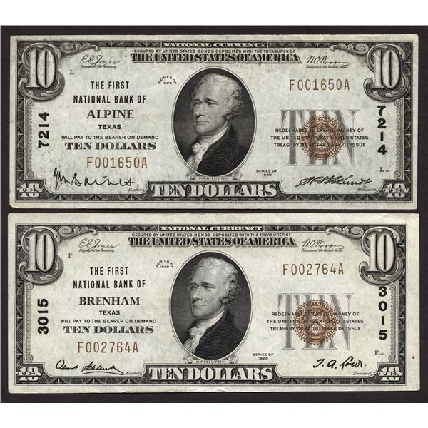 Lot of (2).  National Bank Notes