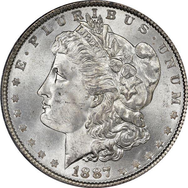 1887 $1. MS-64 PCGS