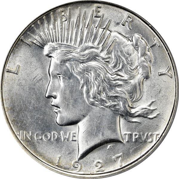 1927-D $1. PCGS AU Details – Genuine – Cleaned