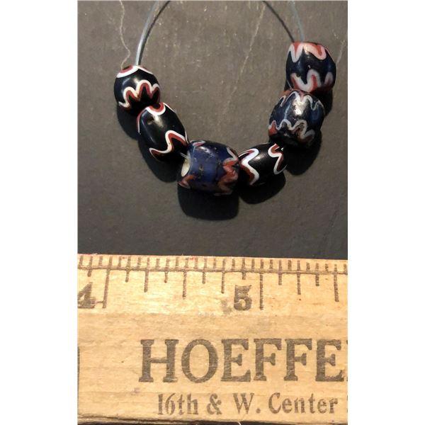 Chinese Imitation Chevron Beads