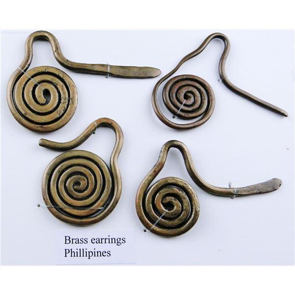 Mounted Brass Earrings