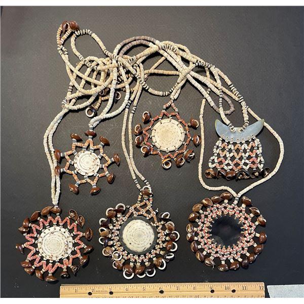 Collection of Malaita Shell Money Necklaces