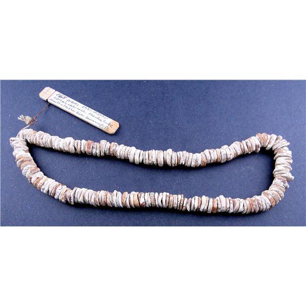 String of Maidu Clamshell Money