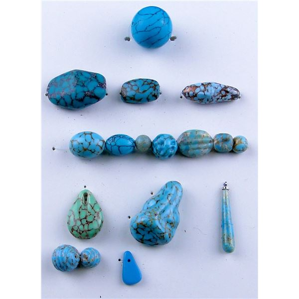 Group of Mounted Hubbell Beads