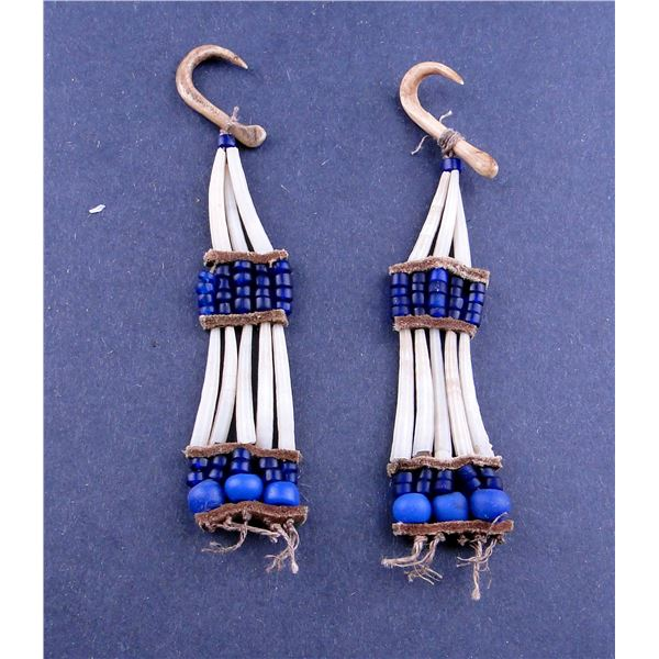Old Dentalium Shell Earrings