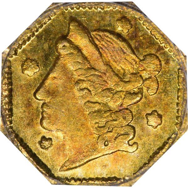 MS63 1854 Octagonal 1/4 Dollar