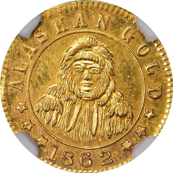 "Alaskan Gold, 2 TooWah ""1862"" (Pat. 1910 Reg. 1910). Eskimo facing; 2 TooEah, 5 stars above (origina"