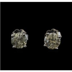 14KT White Gold 1.36 ctw Diamond Stud Earrings