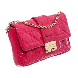 Christian Dior Patent Leather Promenade Pouch Crossbody Bag