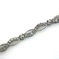 14k White Gold 1.25CTW Diamond Bracelet, (J-K)