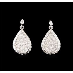 14KT White Gold 2.02 ctw Diamond Earrings
