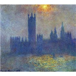 Claude Monet - The Houses of Parliament, Sunlight in the Fog
