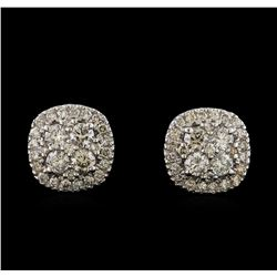 2.20 ctw Diamond Earrings - 14KT White Gold