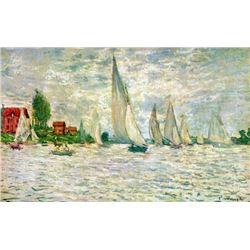 Claude Monet - Sailboats, Regatta in Argenteuil