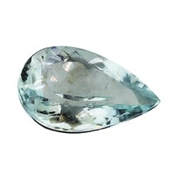 4.30 ct.Natural Pear Cut Aquamarine