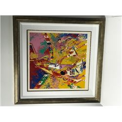 Olympic Basketball by LeRoy Neiman (1921-2012)