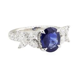 2.55 ctw Sapphire and Diamond Ring - Platinum