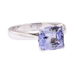 2.56 ctw Blue Sapphire Ring - 14KT White Gold