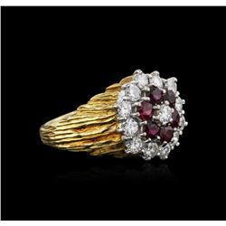 18KT Yellow Gold 1.26 ctw Ruby and Diamond Ring