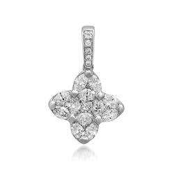 14k Gold 1.1CTW Diamond Pendant, (SI2-I1/H-I)