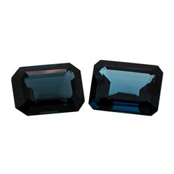 67.94 ctw. Natural Emerald Cut London Blue Topaz Parcel of Two