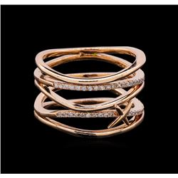 0.19 ctw Diamond Ring - 14KT Rose Gold
