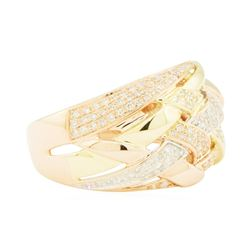 0.60 ctw Diamond Ring - 14KT Rose, Yellow, and White Gold