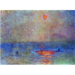 Claude Monet - Waterloo Bridge, The Sun in the Fog