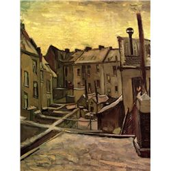 Van Gogh - Backyards Of Old Houses In Antwerp In The Snow