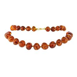 Twenty Nine Inch Baltic Honey Colored Amber Necklace