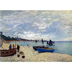 Claude Monet - The Beach at Sainte Adresse #2