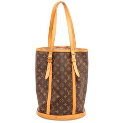 Louis Vuitton Monogram Canvas Leather Bucket GM Shoulder Bag